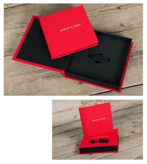 Reportagepakket inclusief albumbox (15x15) en USB
