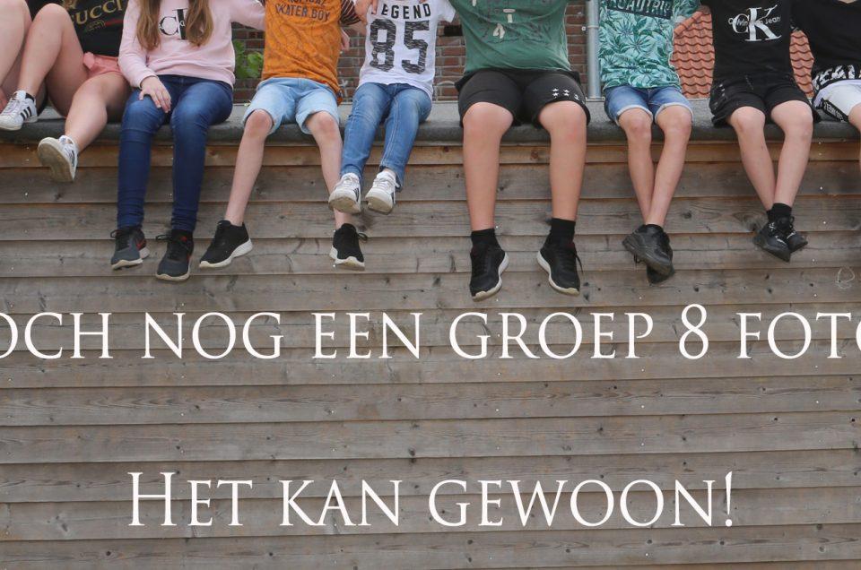 Die groep 8 foto van de schoolverlaters moet toch gewoon!