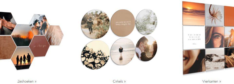 Nieuw in het assortiment: Hexagon, cirkels en vierkant in diverse materialen